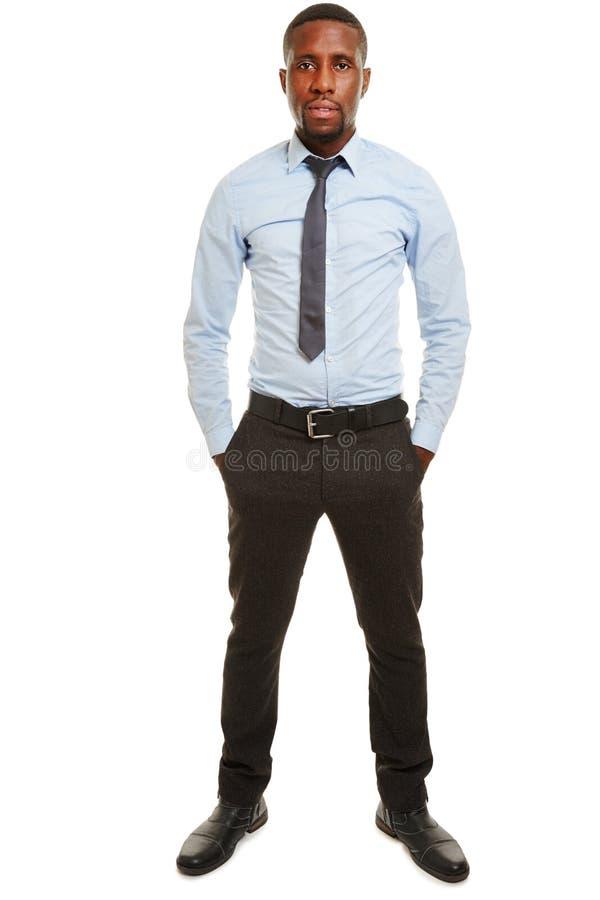 Африканский коммерческий директор в голубой рубашке стоковое изображение rf