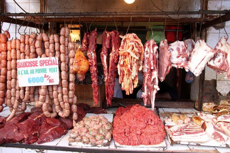 Download африканский магазин Butcher Стоковое Изображение - изображение насчитывающей ингридиент, тучно: 17620329