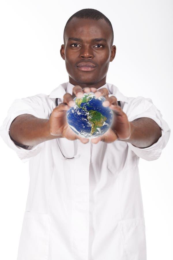 Африканский молодой доктор стоковое изображение