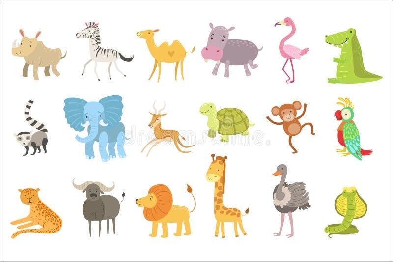 Африканский набор иллюстрации животных иллюстрация штока