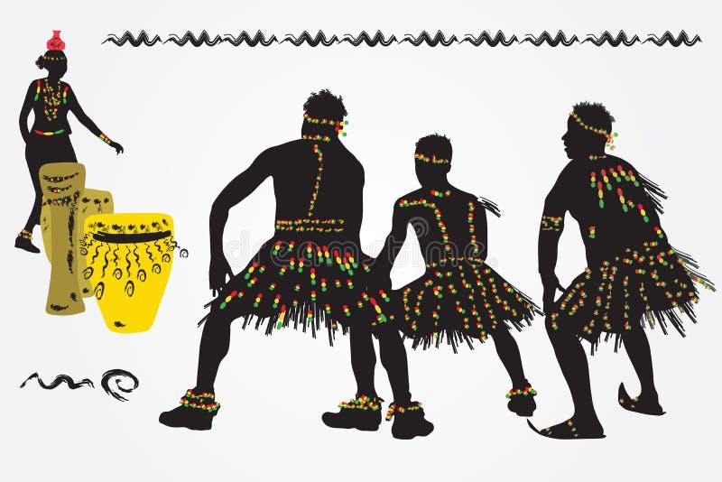 Африканский народный танец иллюстрация вектора
