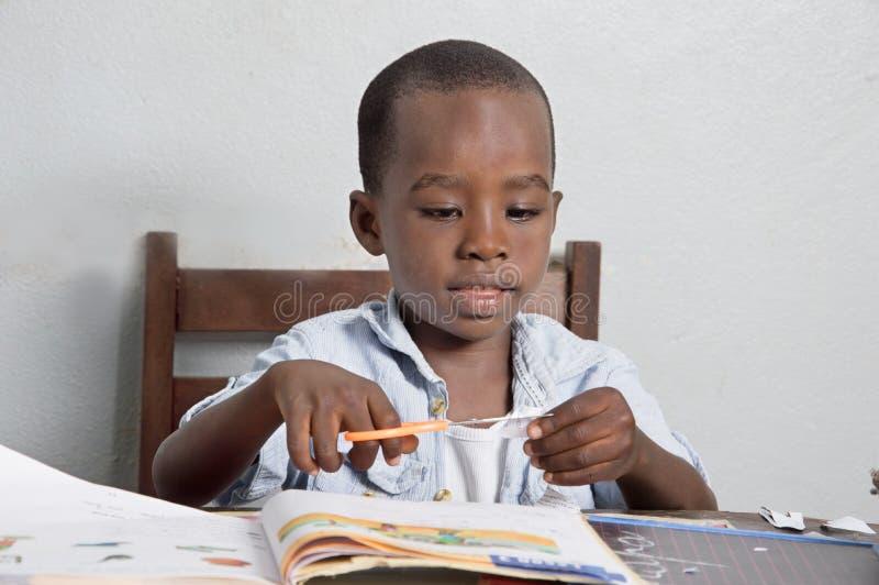 Африканский основной студент стоковые фотографии rf