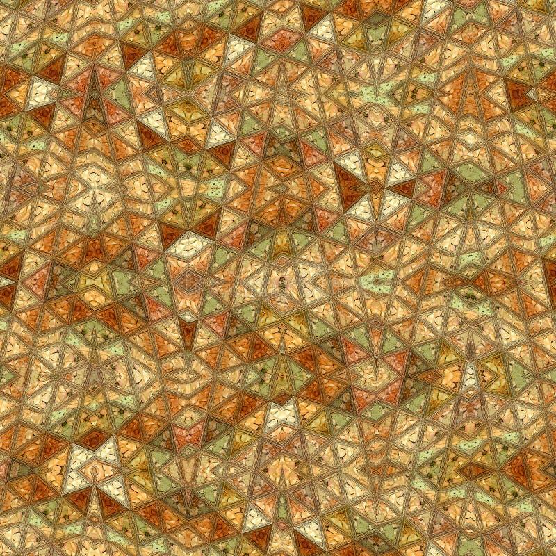 Африканский племенной орнамент Этнический орнамент зигзага, картина треугольников границы иллюстрация вектора
