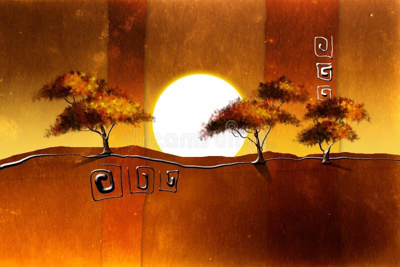 Африканский побудительный этнический ретро год сбора винограда бесплатная иллюстрация