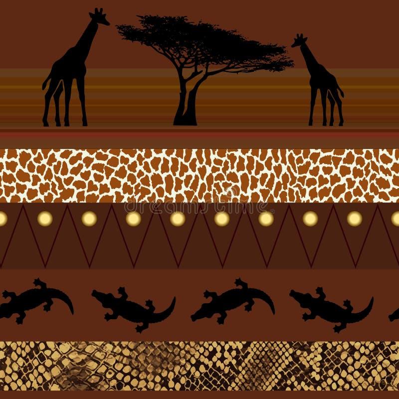 Африканский тип картина безшовная иллюстрация штока