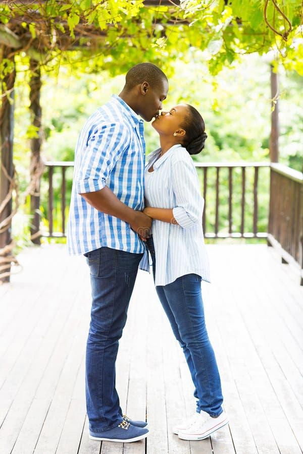 Африканский целовать пар стоковые изображения