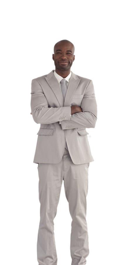 африканским человек америки изолированный делом стоковые изображения