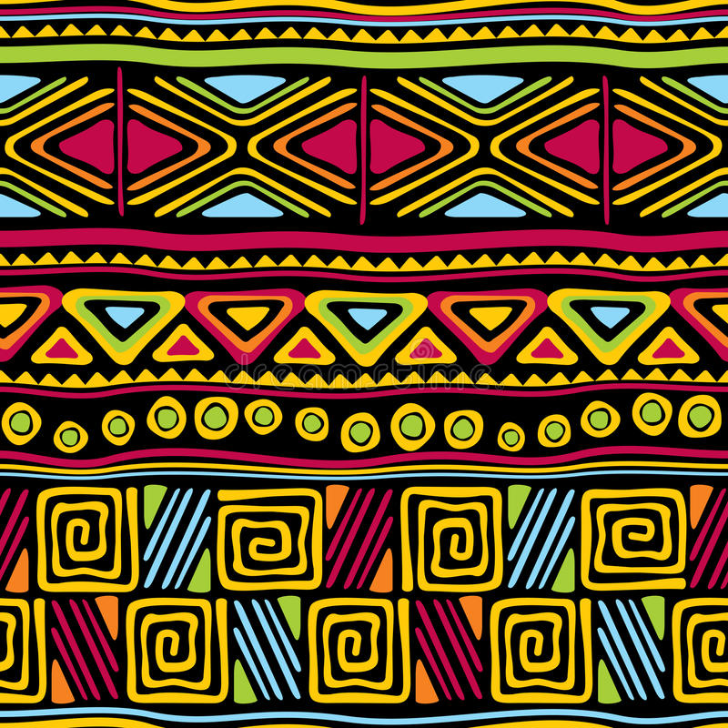 африканское безшовное иллюстрация вектора