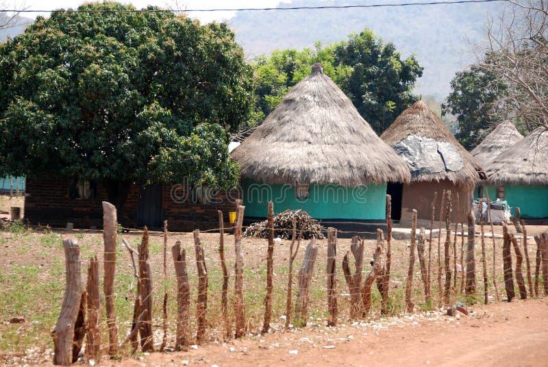 африканское село стоковые изображения rf