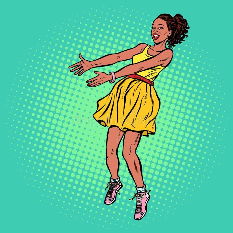 Африканской руки протягиванные женщиной бесплатная иллюстрация