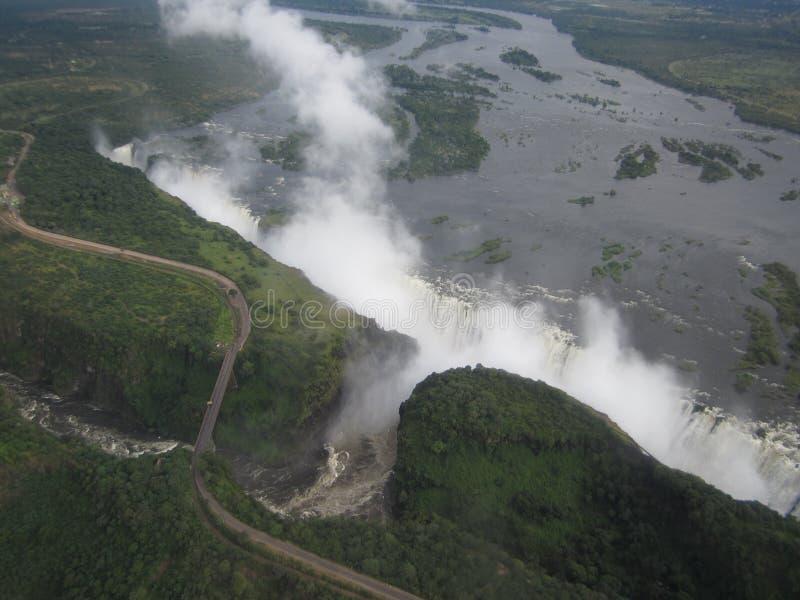 Африка - Виктория Фолс - Замбия стоковые фотографии rf