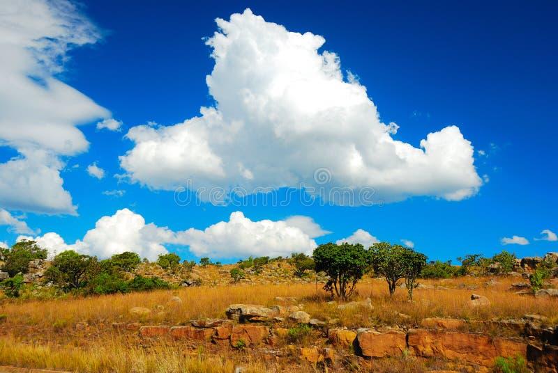 Африка заволакивает на юг стоковое фото rf