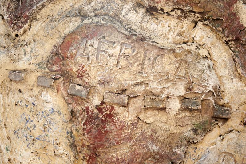 Африка на абстрактном фоне камня Континентная Африка стоковая фотография