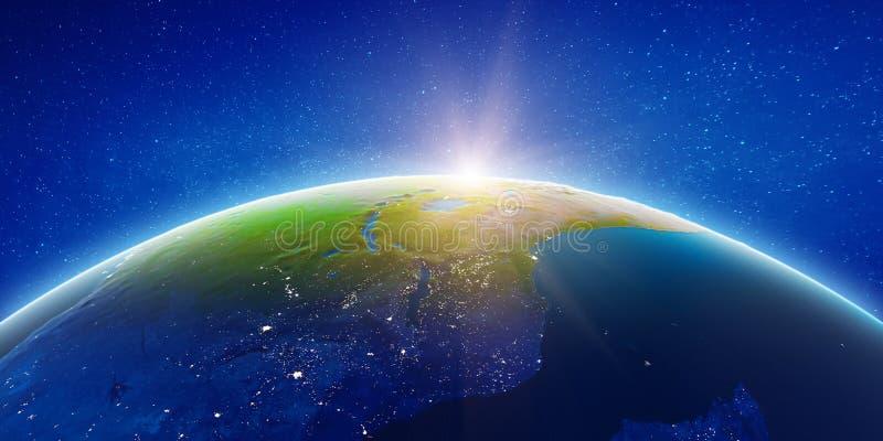 Африка от космоса стоковые изображения