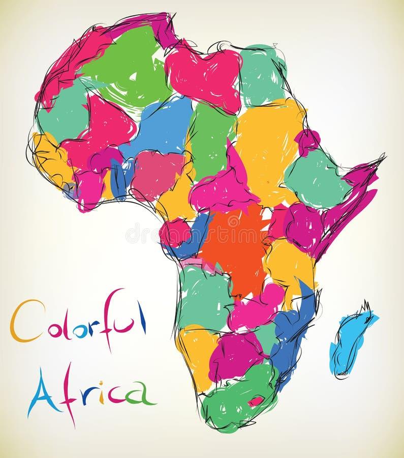 Африка цветастая иллюстрация вектора