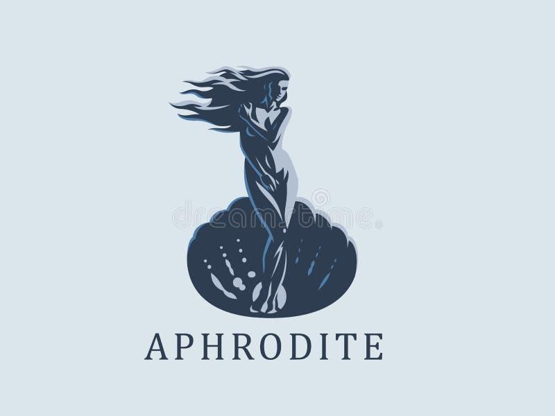 Афродита или Венера белизна вектора 8 эмблем изолированная eps бесплатная иллюстрация