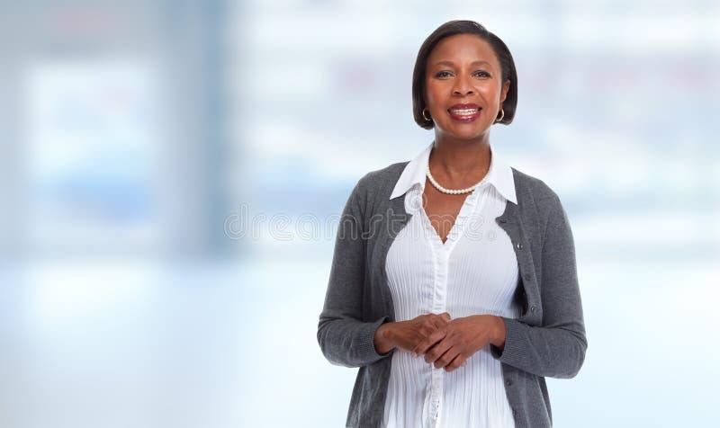 Афро-американская бизнес-леди стоковое фото rf