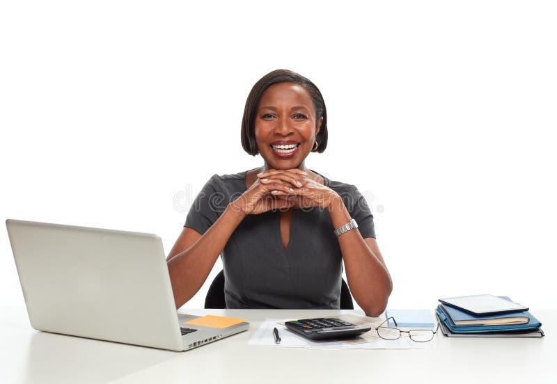 Афро-американская бизнес-леди стоковое изображение rf