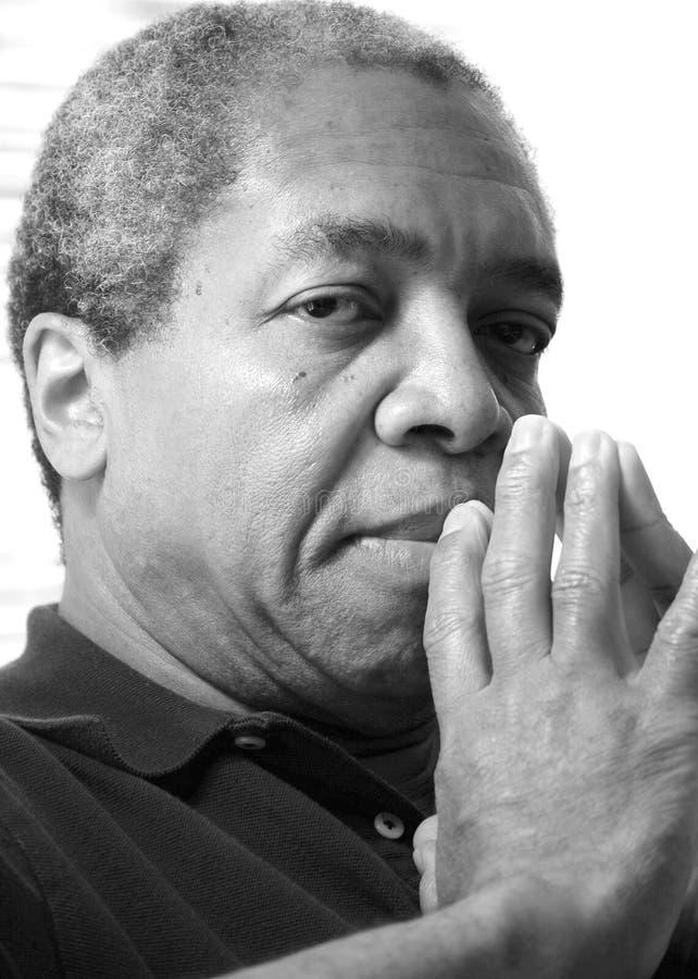 Афро-американские мужские выражения стоковые изображения