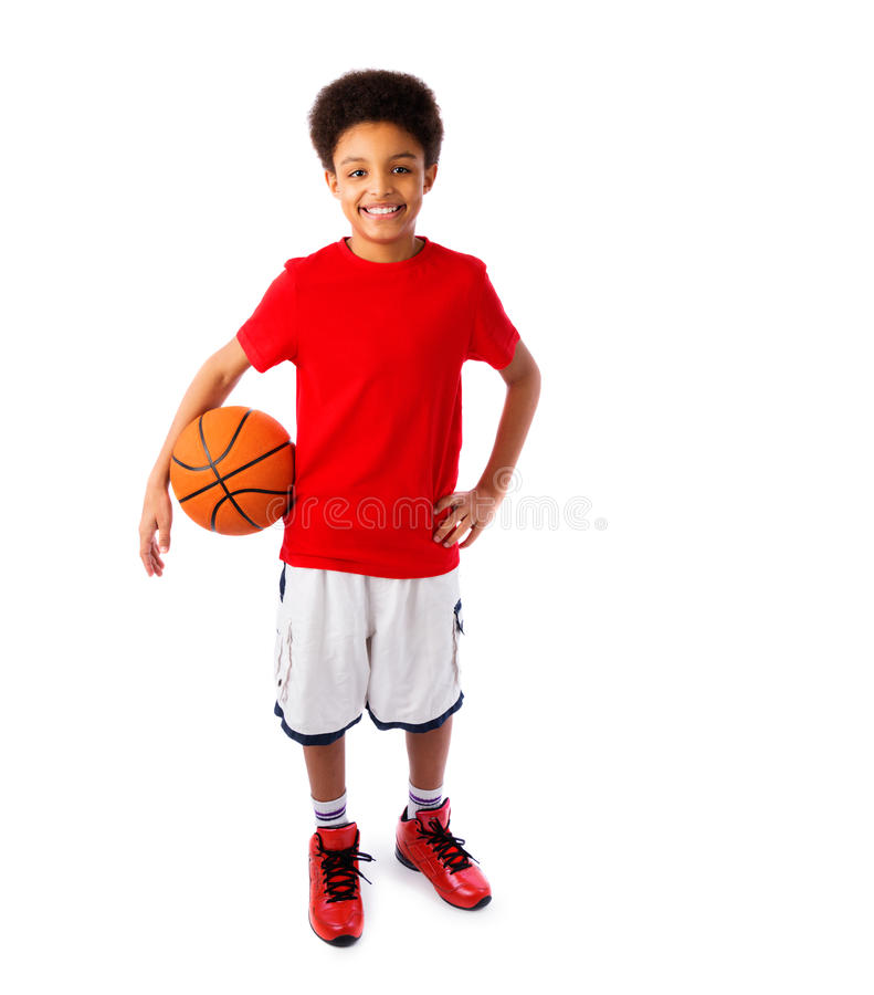 Афро-американский баскетболист стоковое изображение rf