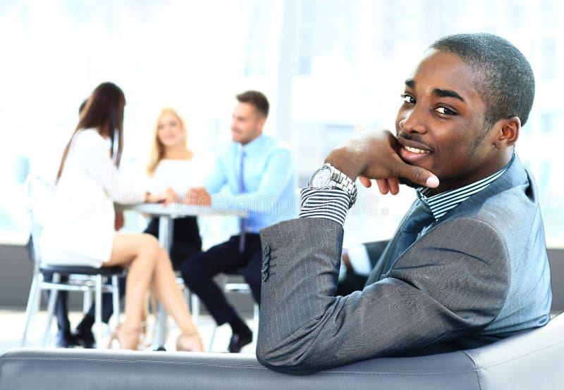 Афро-американский бизнесмен стоковое изображение rf