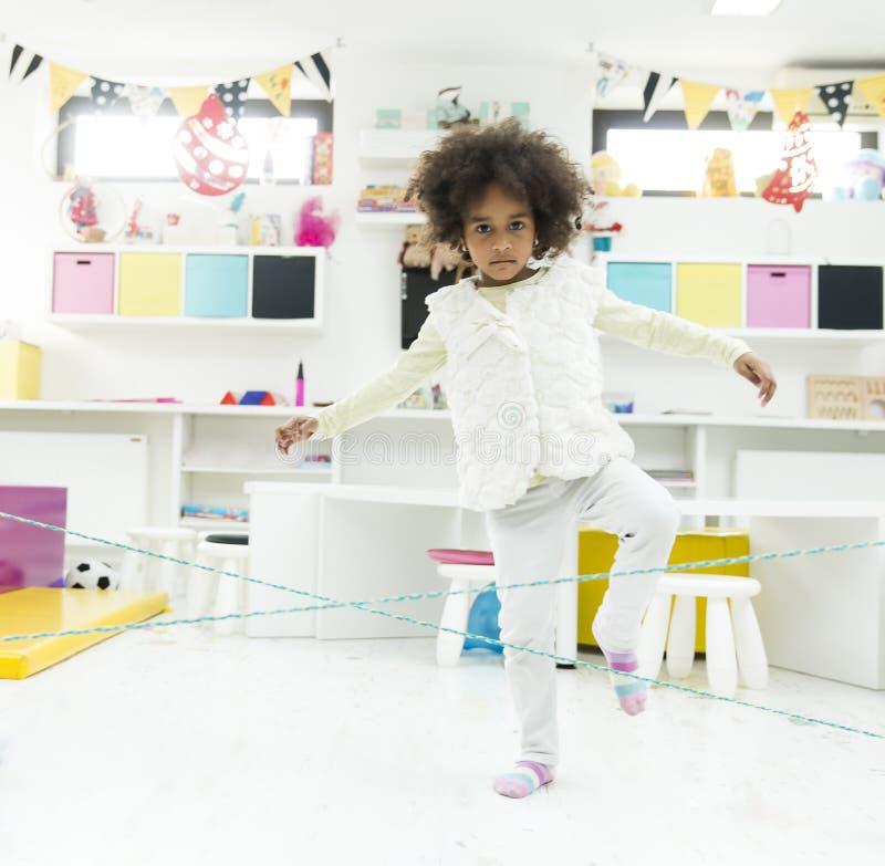 Афро-американский играть ребенк стоковые фотографии rf
