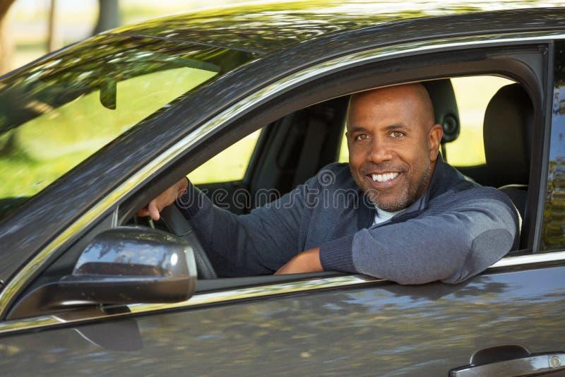 Афро-американский управлять человека стоковое изображение rf