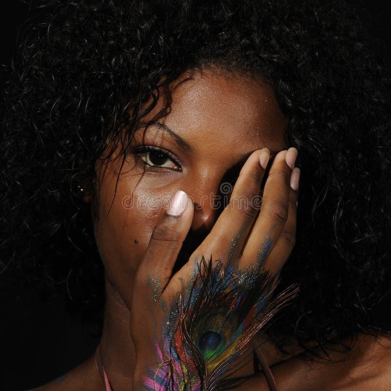 афро детеныши красотки стоковое изображение