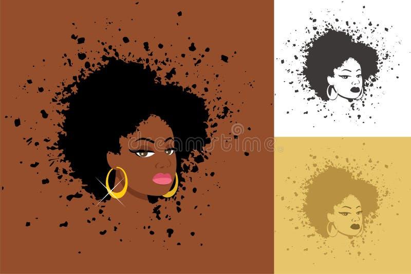 Афро иллюстрация вектора
