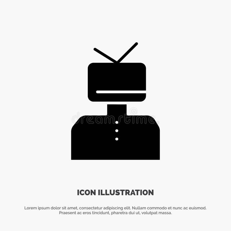 Аффирмация, аффирмации, уважение, счастливое, вектор значка глифа человека твердый бесплатная иллюстрация