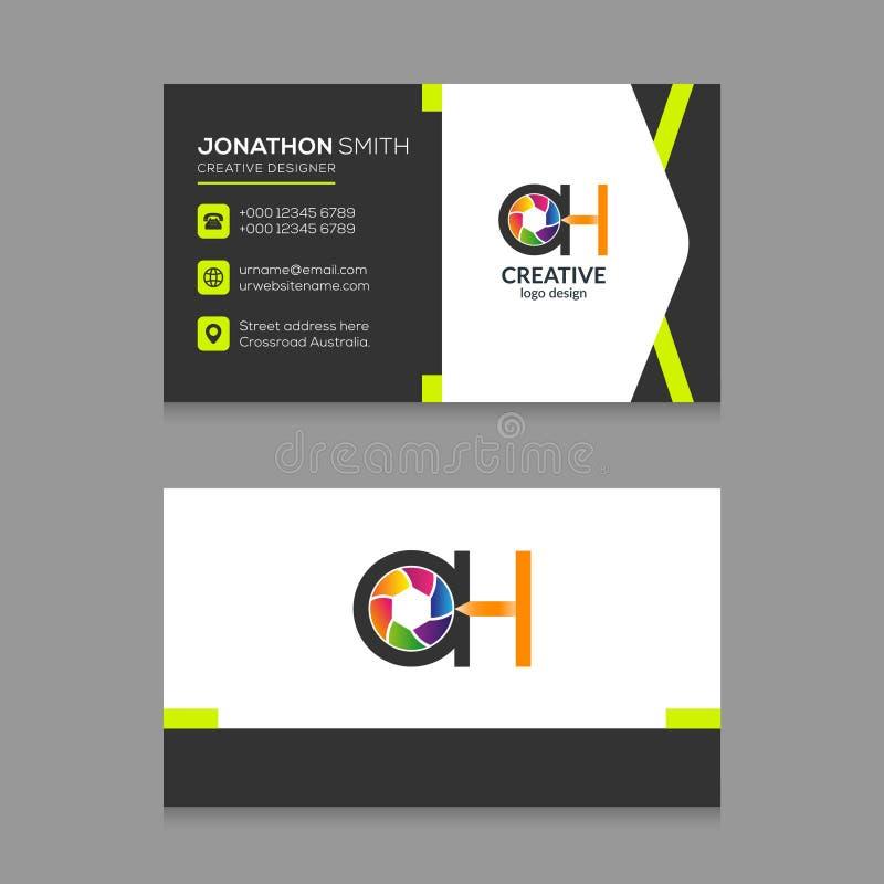 АХ вектор шаблона дизайна визитной карточки логотипа письма фотографии абстрактный бесплатная иллюстрация