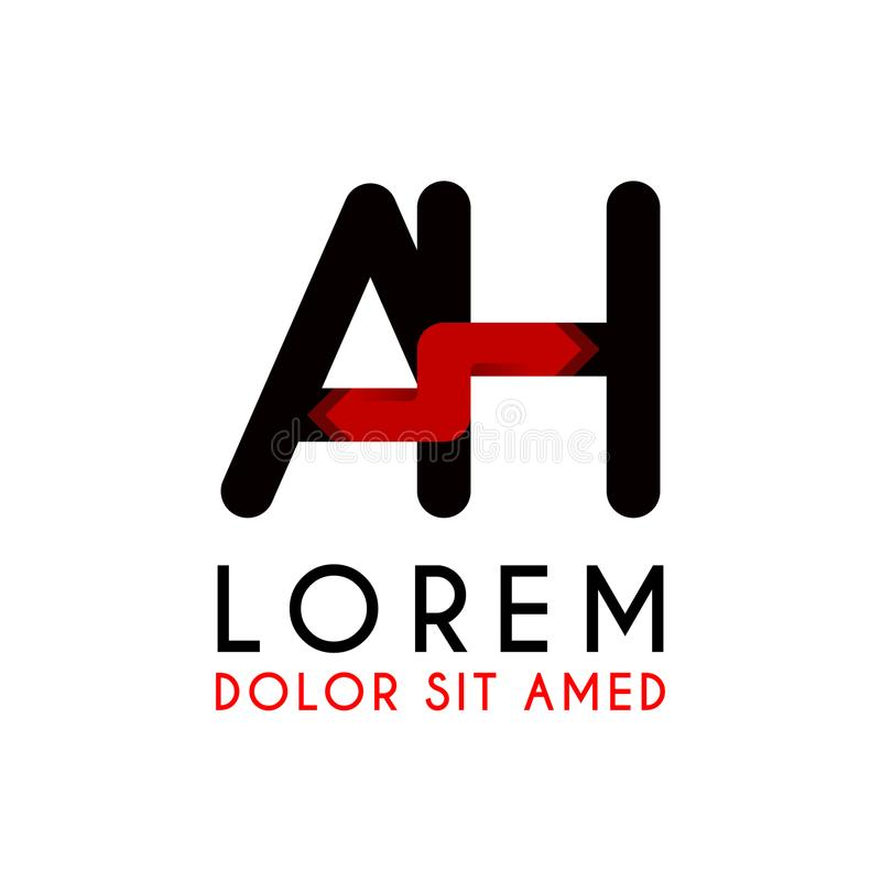 АХ логотип письма черный с стрелкой градиента бесплатная иллюстрация