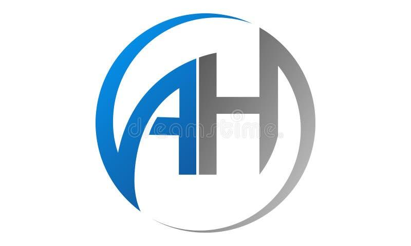 АХ логотип циркулярного письма иллюстрация вектора