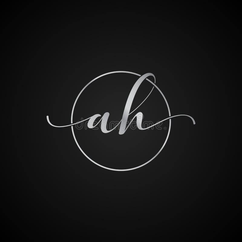 АХ современный уникальный вектор шаблона логотипа начального письма элегантный творческий иллюстрация штока