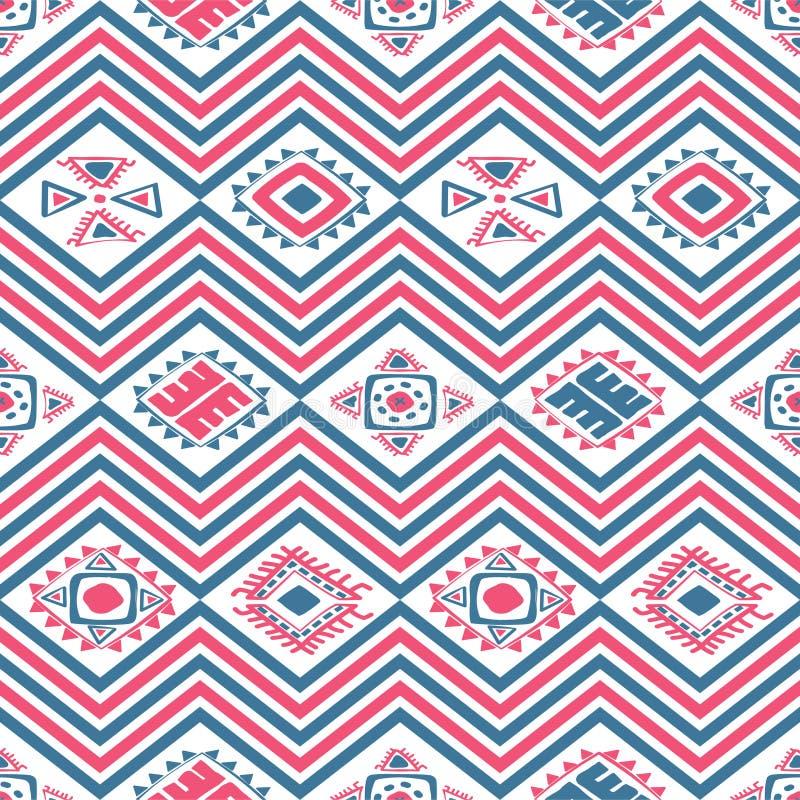 Ацтекская безшовная картина цвета стоковое изображение