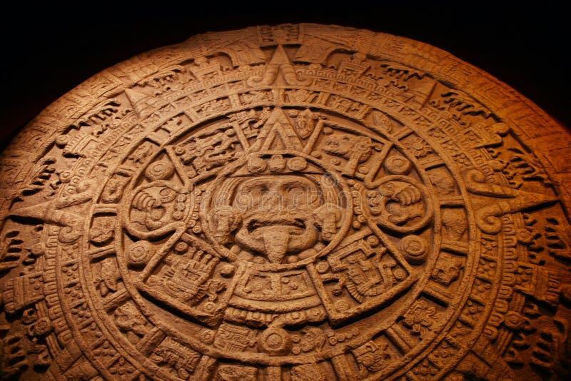 ацтекский календар стоковые изображения rf