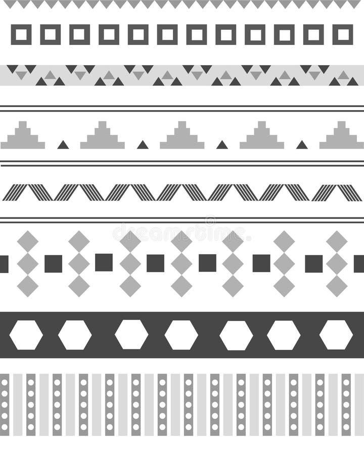 Ацтекское abrstrac картины иллюстрация вектора