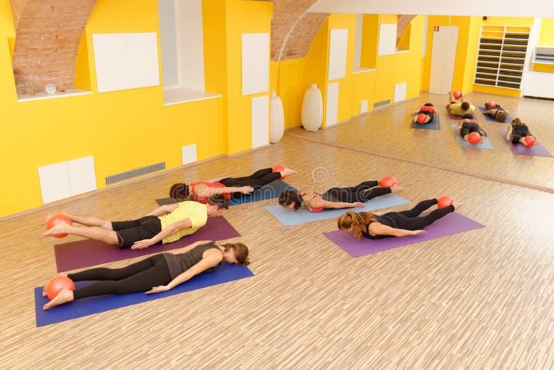 Аэробное Pilates стоковая фотография rf