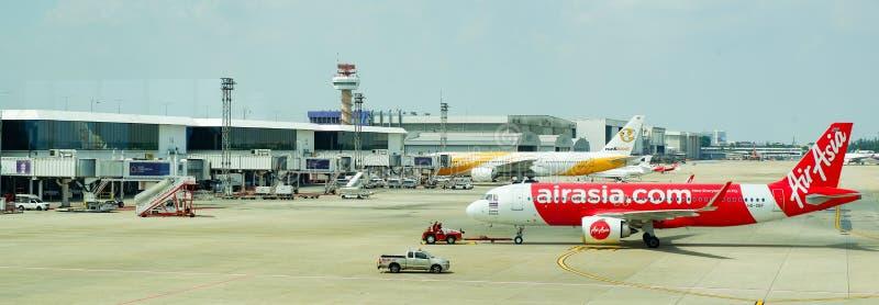 Аэробус Бангкока Азии авиапорта и воздух Nok стоковая фотография
