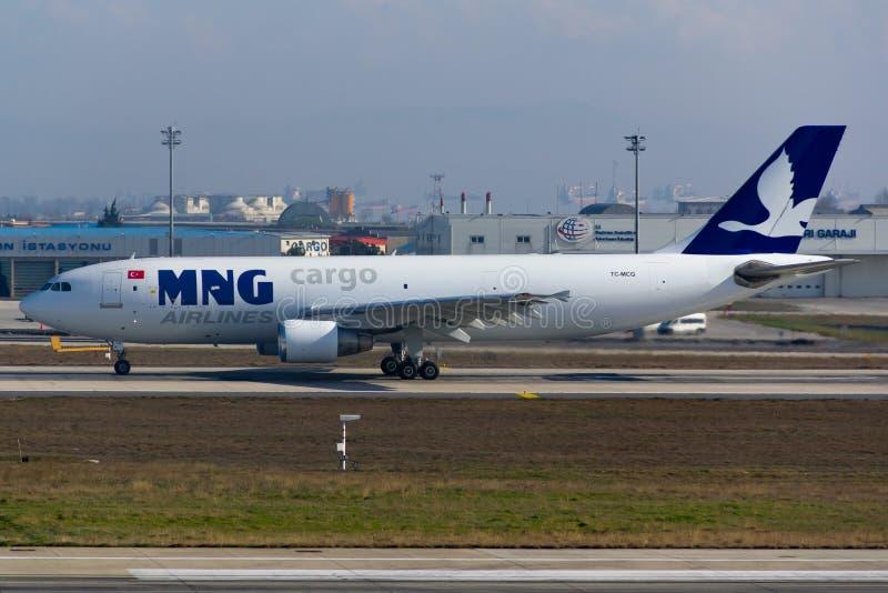 Аэробус A300 транспортного самолета MNG стоковое изображение