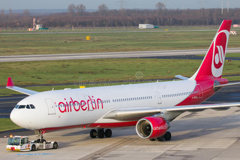 Аэробус A330 Air Berlin стоковое изображение rf
