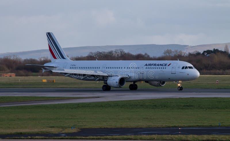 Аэробус 320 Air France стоковые фотографии rf
