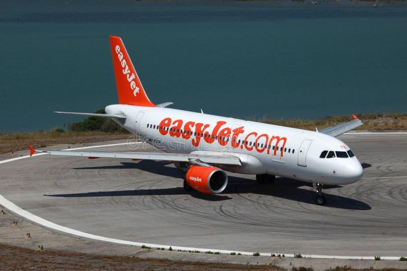 Аэробус A320 EasyJet стоковые фотографии rf