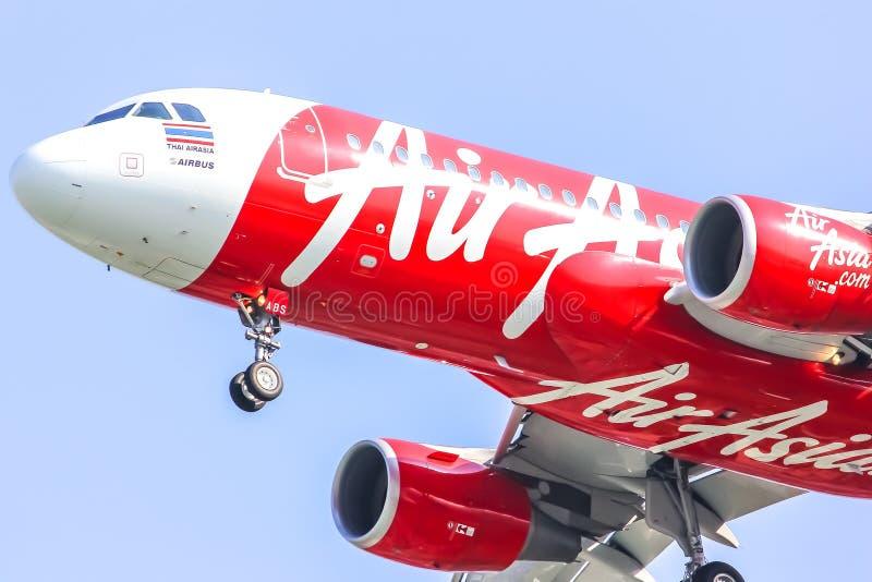 Аэробус A320-200 HS-ABS Thaiairasia. стоковая фотография rf