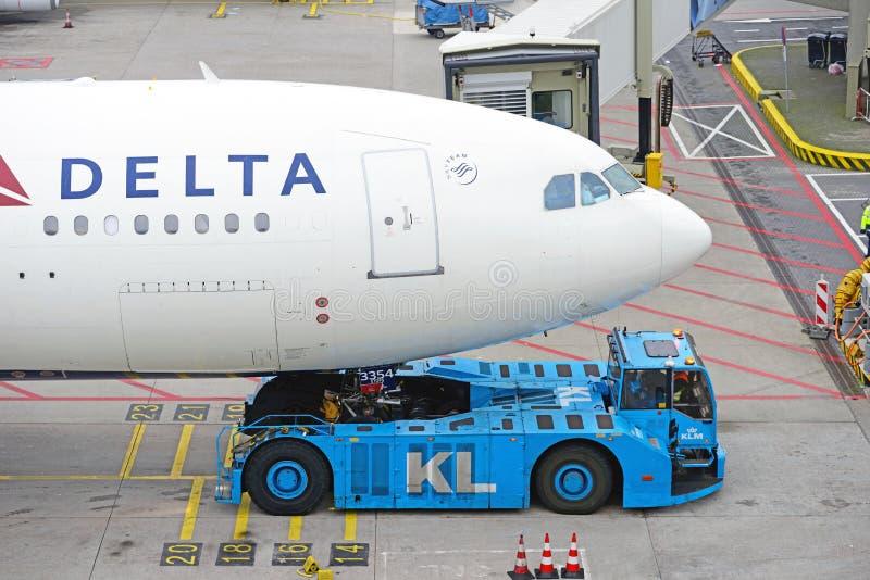 Аэробус A330 N854NW Delta Airlines стоковое изображение