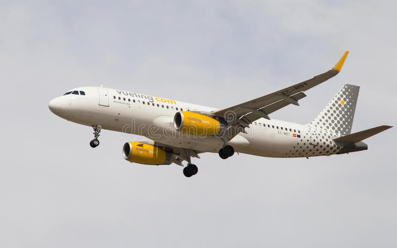 Аэробус A320 Vueling Airlines стоковое изображение