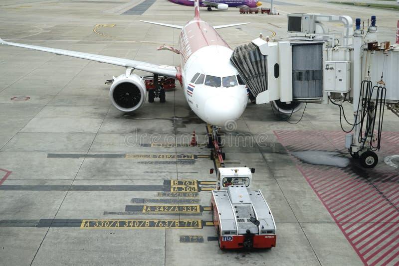 Аэропорт Дон Meung в Бангкоке, Таиланде стоковые фотографии rf