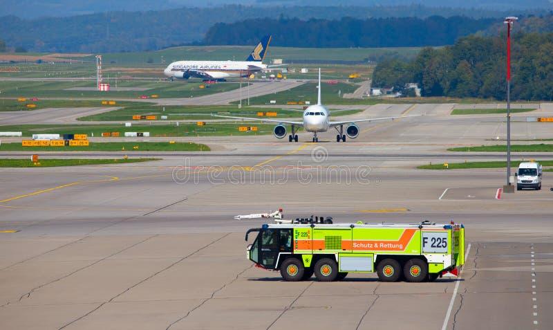 Аэропорт Цюрих стоковое изображение