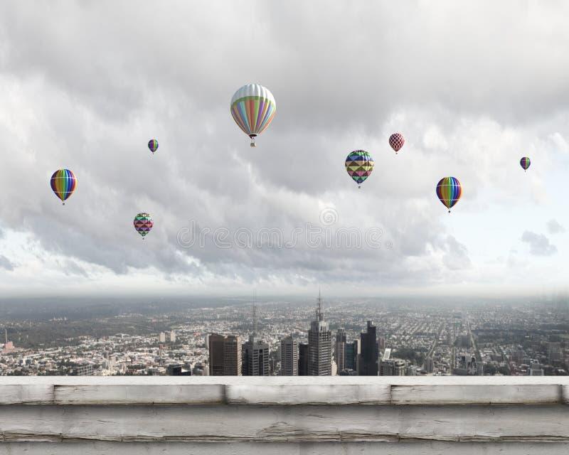 Download Аэростаты в небе стоковое фото. изображение насчитывающей airbrush - 41650046