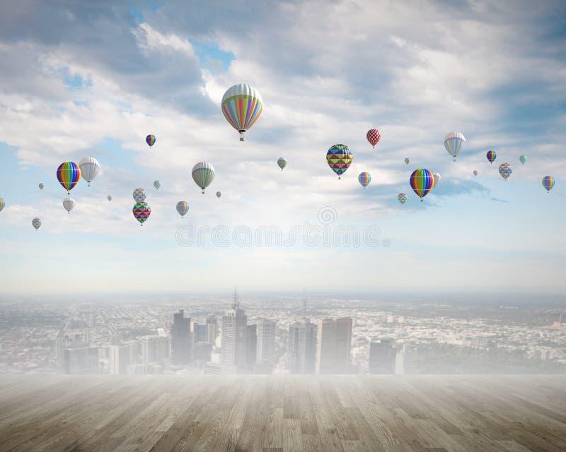 Download Аэростаты в небе стоковое фото. изображение насчитывающей balletic - 41650150